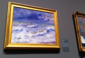 "Pierre-August Renoir's ""Seascape"" at the Chicago Art Institute"