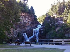 Cameron Falls, in the small village of Waterton Park.