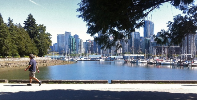 View of downtown from Stanley Park